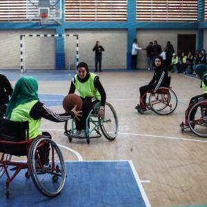 مباراة كرة سلة لذوي الاحتياجات الخاصة بغزة في اليوم العالمي لهم