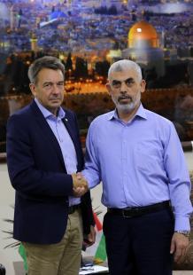 زيارة رئيس الصليب الأحمر إلى غزة