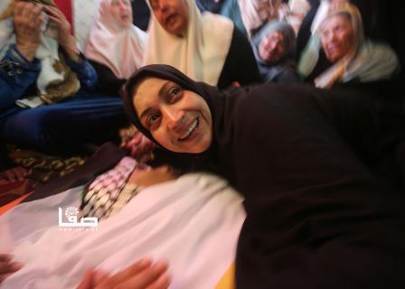 تشييع جثمان الشهيد الصياد أبو ريالة