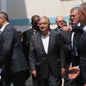 زيارة الأمين العام للأمم المتحدة إلى غزة