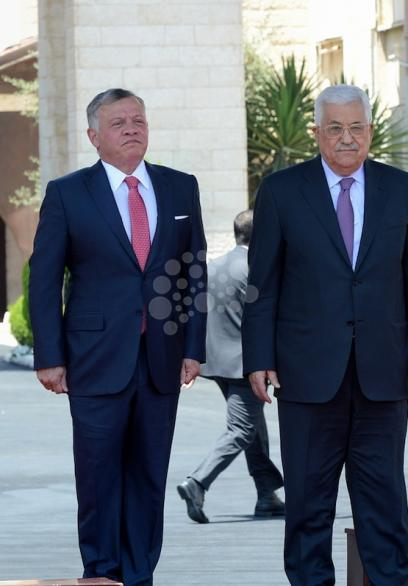 الرئيس يستقبل العاهل الأردني