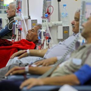 قسم غسيل الكلى بمستشفى الشفاء بغزة