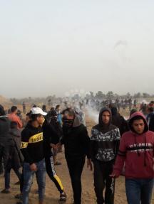 إصابات باعتداء الاحتلال على المتظاهرين شرقي رفح