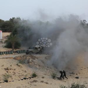 مناورة عسكرية لـكتائب الناصر في خانيونس