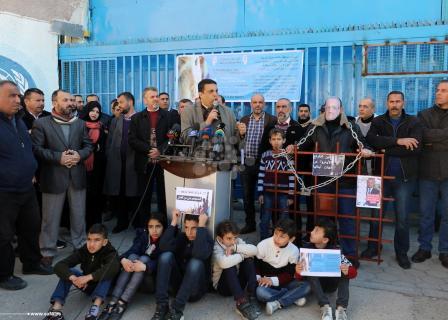 موظفون الأونروا شاركون في احتجاج للمطالبة بحقوقهم
