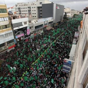 مهرجان حاشد لانطلاقة حماس الـ29 بمدينة غزة