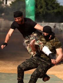 حفل تخريج ضباط وقادة سرايا بالأمن الوطني بغزة