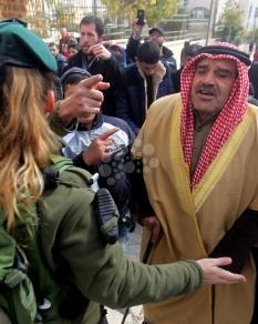 تظاهرة مناهضة لإجراءات الاحتلال في المسجد الإبراهيمي