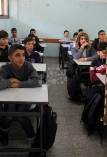 حزن شديد بمدرسة الشهيد الطفل إسماعيل عبد العال