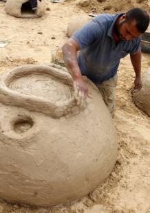 صناعة أفران الطين في رفح