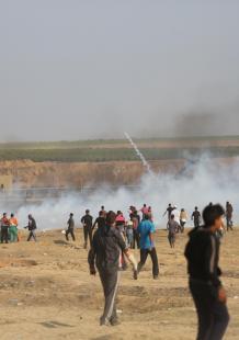 تواصل توافد الحشود بعد مليونية العودة بغزة