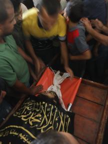 تشييع ثلاثة شهداء شمال غزة