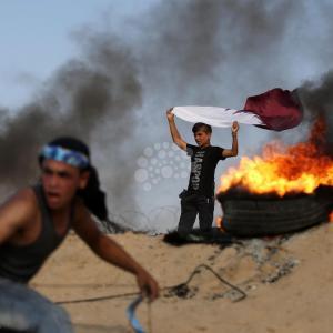 مظاهرات على حدود غزة احتجاجا على تفاقم الحصار