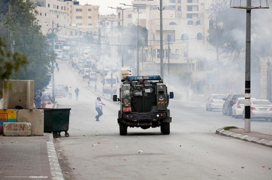 قمع مسيرة مطالبة باسترداد جثامين الشهداء ببيت لحم