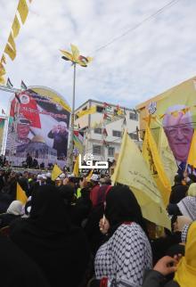 حركة فتح تحتفل بانطلاقتها بمهرجان بغزة