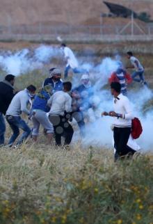 اعتداء إسرائيلي متواصل على مسيرة العودة