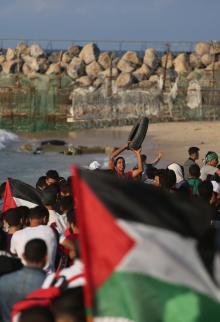 الاحتلال يقمع الحراك البحري الـ 15 بغزة