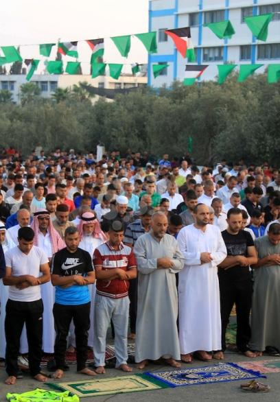 صلاة عيد الأضحى بغزة