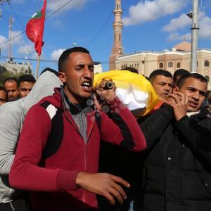 تشييع جثمان الشهيد مهدي ارميلات (36 عامًا)