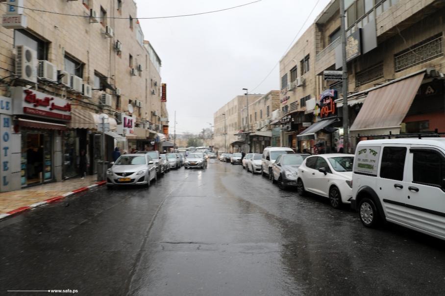 الأجواء الماطرة في مدينة القدس المحتلة