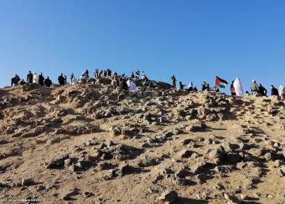 معتمرون فلسطينيون على جبل عرفات