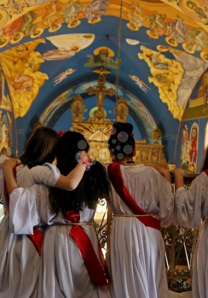 احتفال الطائفة المسيحية بغزة بعيد الفصح