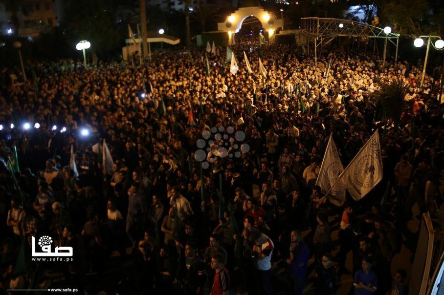 مسيرة حاشدة لحماس بغزة رفضًا للحصار والمؤامرة