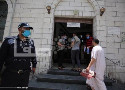 إشادة بالإجراءات الوقائية خلال صلاة الجمعة بغزة
