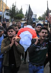 تشييع شهيد من سرايا القدس شمال قطاع غزة