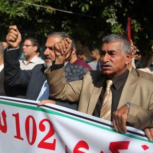 مسيرة احتجاجية للفصائل بغزة بذكرى وعد بلفور