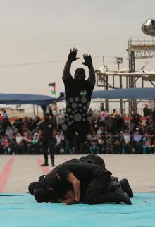 داخلية غزة تُخرِّج فوج الشهيد مازن فقها