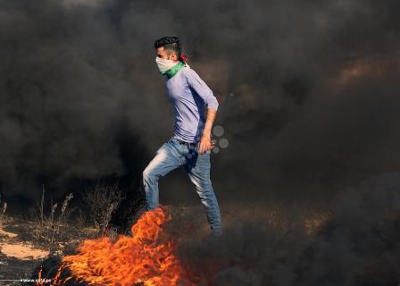 مواجهات نذير الغضب شرق قطاع غزة