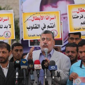 تظاهرة تضامنية مع الأسرى بغزة