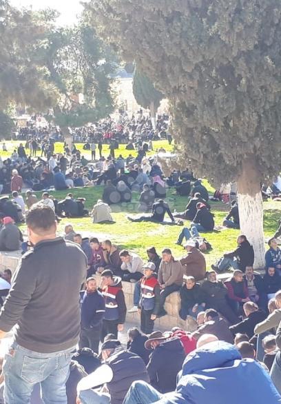 ٤٠ ألف مصل بالمسجد الأقصى بالجمعة الأولى في 2019