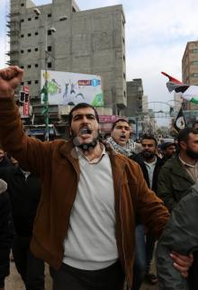 مسيرة للجهاد الإسلامي بغزة ترفض القدس عاصمةً لإسرائيل