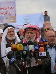 وقفة علمائية بغزة ضد القرار الأمريكي