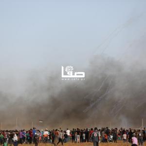 استهداف الاحتلال للمشاركين بجمعة الوفاء للجرحى