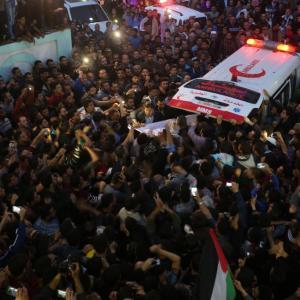 تشييع الشهيد العالم فادي البطش بغزة