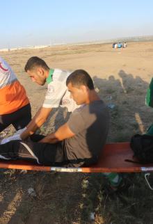 فعاليات جمعة الوفاء للشهداء شرقي قطاع غزة
