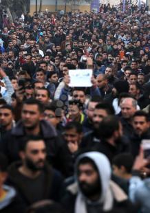 احتجاجات على أزمة الكهرباء في شمال القطاع