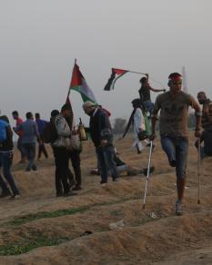 قمع المتظاهرين بمسيرات العودة شرق غزة