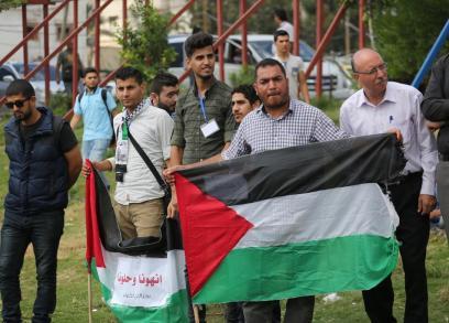 شبان بغزة يعتصمون لدعم جهود المصالحة