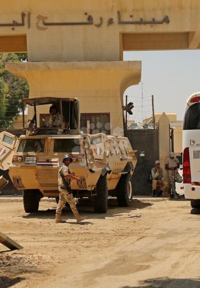 حجيج قطاع غزة يغادرون عبر معبر رفح المغلق لأداء مناسك الحج