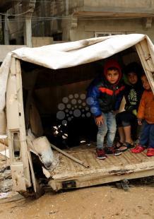 هكذا بدت غزة بعد انحسار المنخفض الجوي
