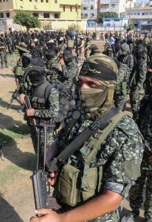 عرض عسكري لسرايا القدس بغزة