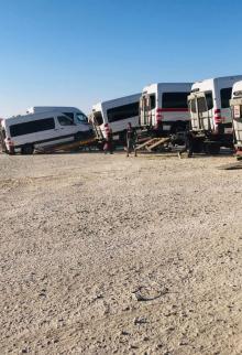 وصول إسعافات لغزة عبر قافلة أميال من الابتسامات