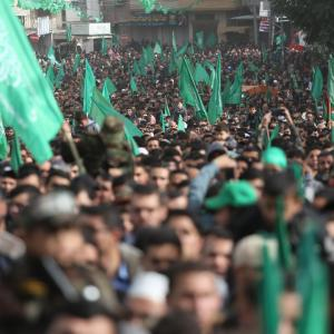 فعاليات انطلاقة حركة حماس الـ 32 شمال قطاع غزة