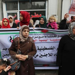 تظاهرة بغزة لفلسطينيين لاجئين من دول عربية