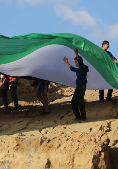نشطاء يعتصمون ضد ردم موقع أثري وسط القطاع