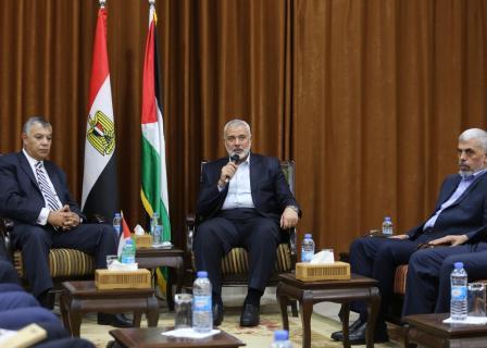 قيادة حماس تلتقي رئيس المخابرات المصرية